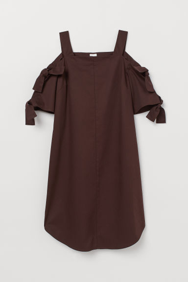 Abito a spalle scoperte - Marrone scuro - DONNA | H&M IT