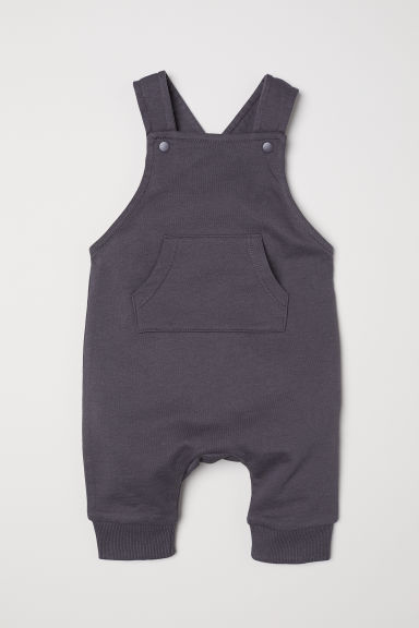 Cotton dungarees - Dark grey - Kids | H&M GB
