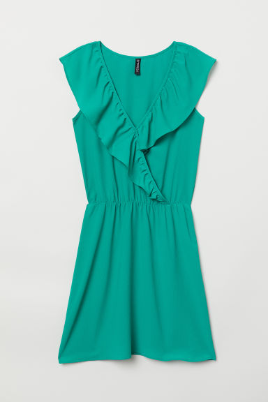 V-neck dress - Green - Ladies | H&M