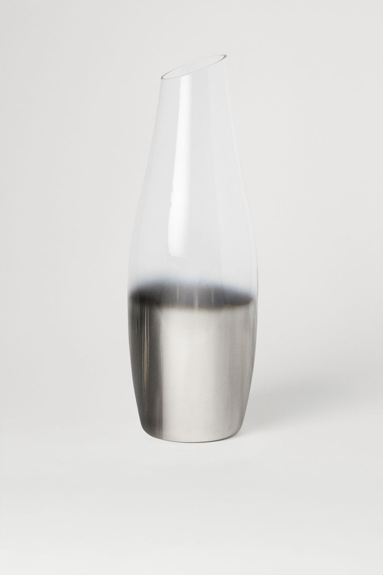 Stor glasvas - Klarglas/Silver - Home All | H&M FI