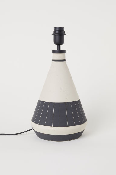 Table lamp - Natural white/Dark grey - Home All | H&M GB