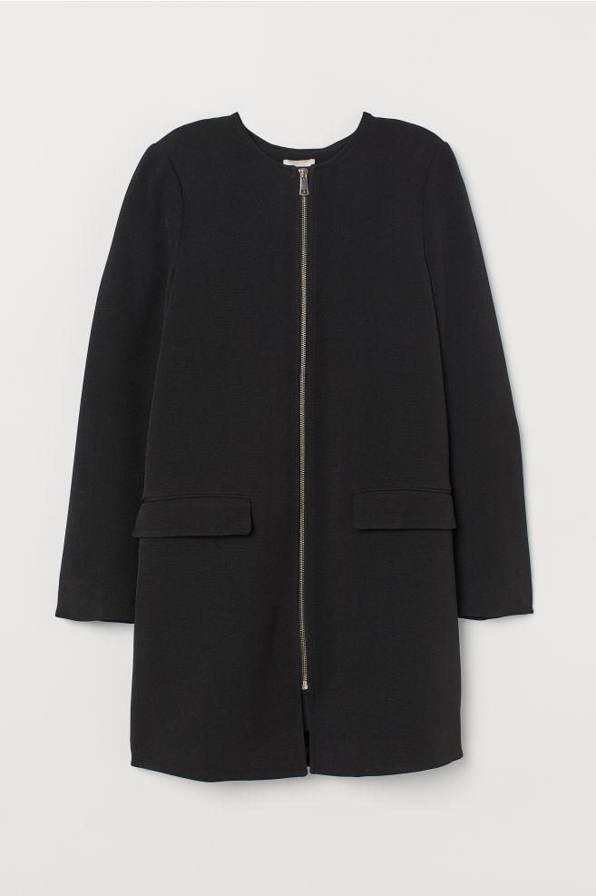 28ef264900e8 Short Coat - Black - Ladies | H&M ...