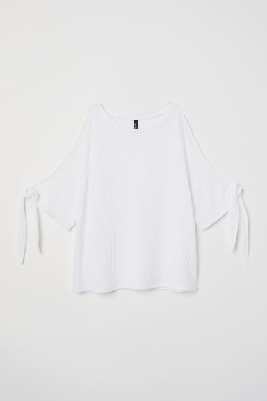 Top hombros cut-out - Blanco - MUJER | H&M ES