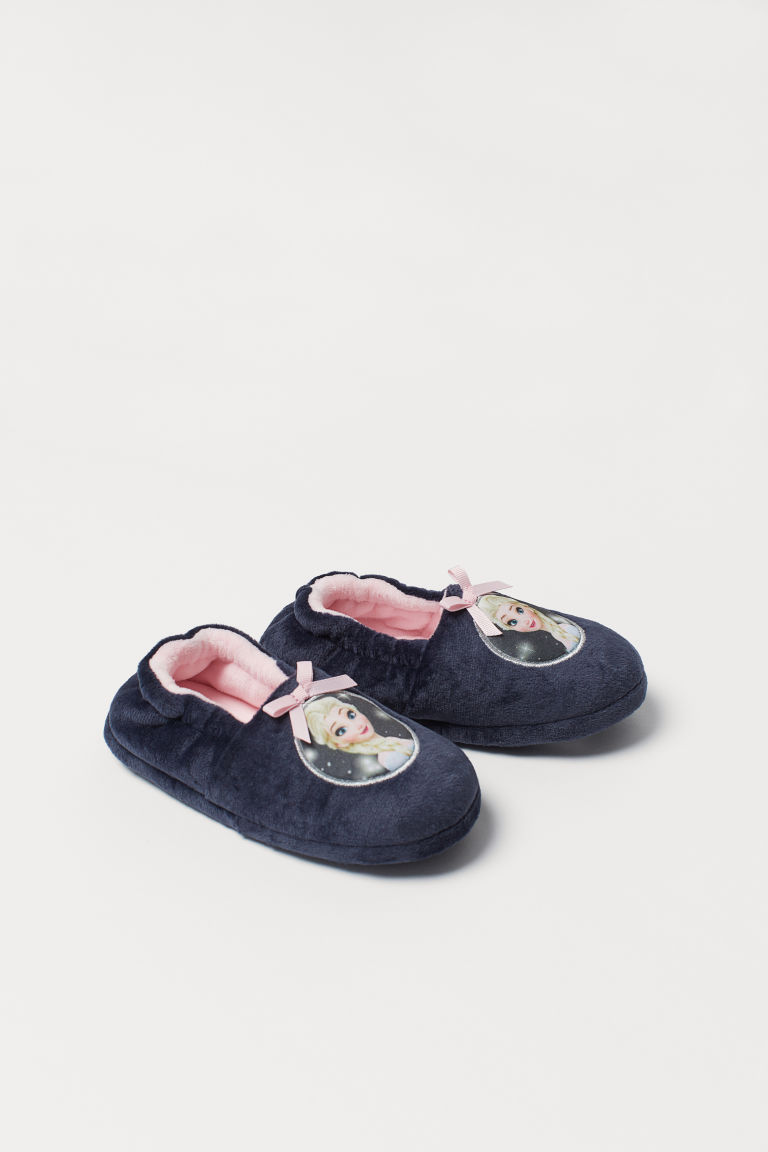 Velour slippers - Dark blue/Frozen -  | H&M CN