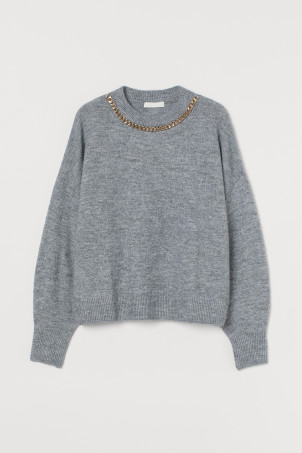 Chain-detail Sweater
