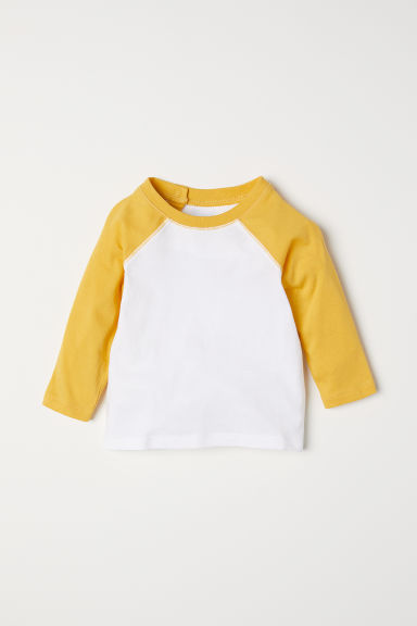 Long-sleeved T-shirt - Yellow - Kids | H&M