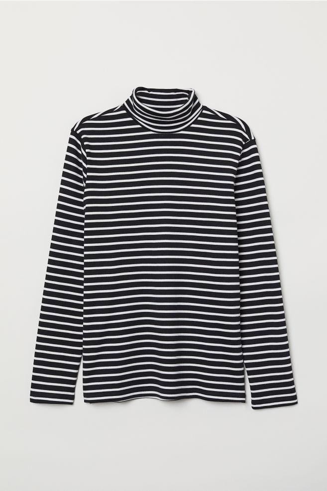 0d011a2b Stripet pologenser - Sort/Hvit stripet - HERRE | H&M ...