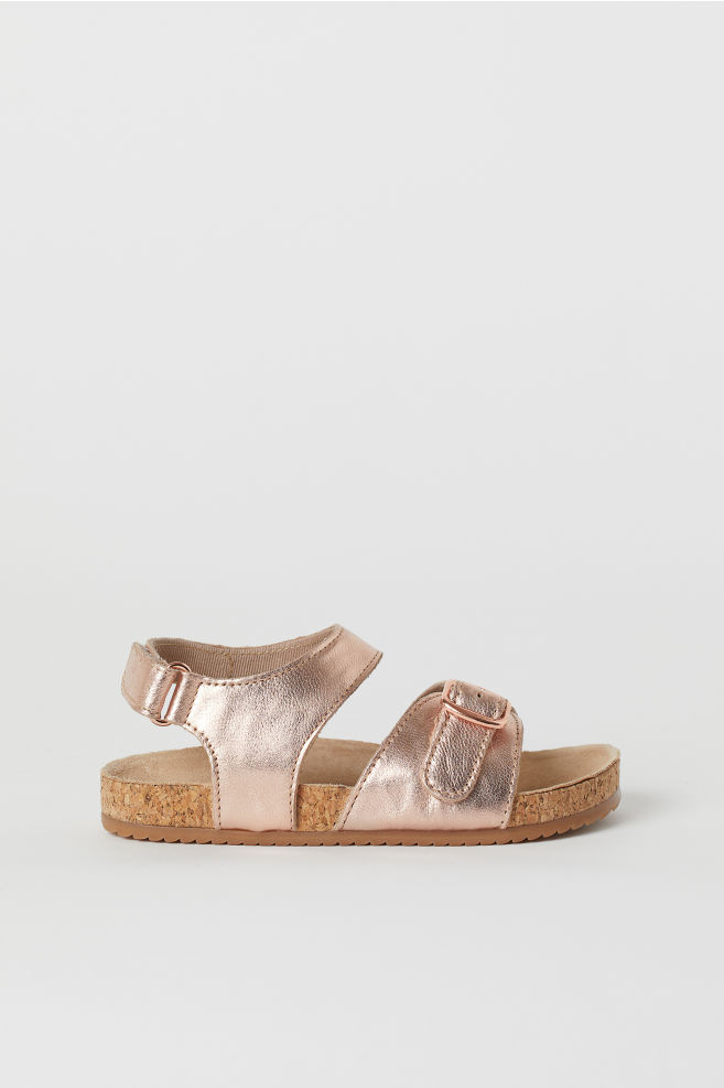 6c5fde4a7a0a Suede Sandals - Rose gold-colored - Kids