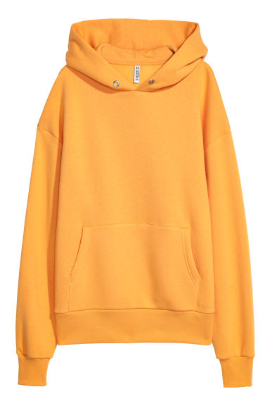 Oversized hooded top - Yellow - Ladies | H&M