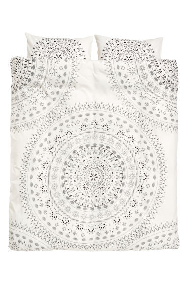 Funda nórdica estampada - Blanco natural -  | H&M ES