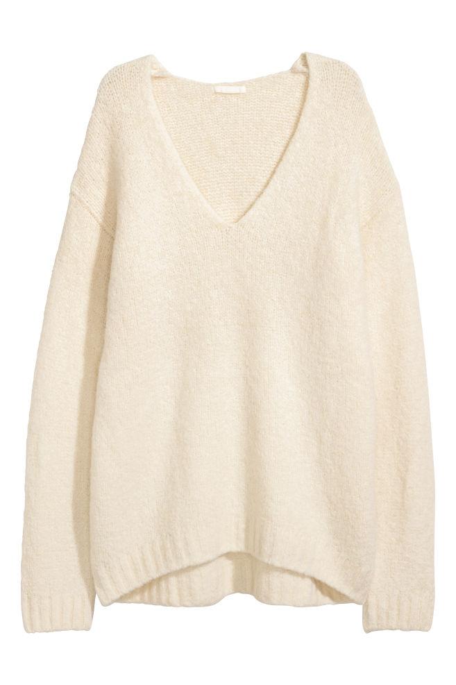 Pull en laine mélangée - Écru - FEMME | H&M FR 1