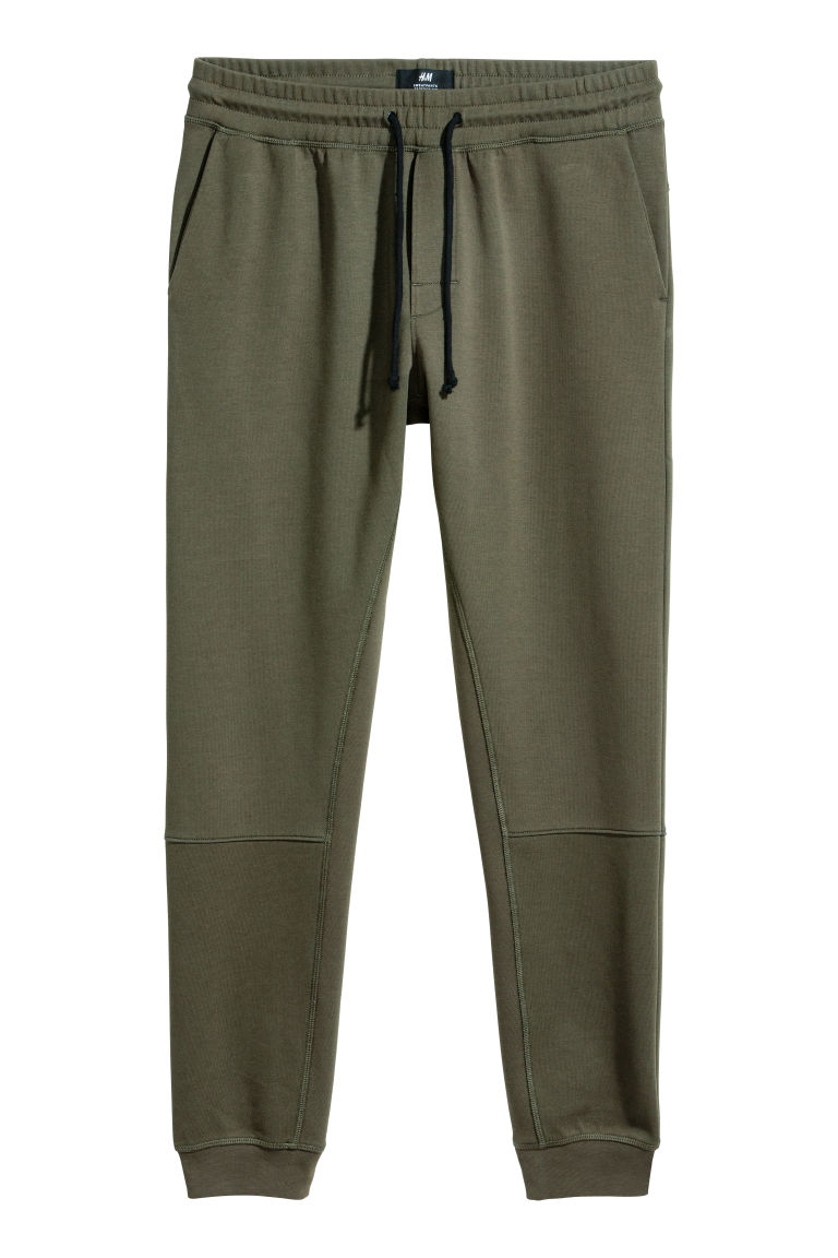 Tapered fit Joggers - Dark green - Men | H&M