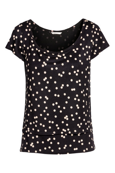MAMA Top da allattamento - Nero/pois - DONNA | H&M IT