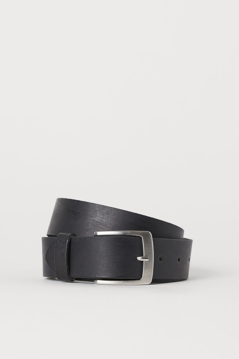 Leather belt - Black - Men | H&M GB