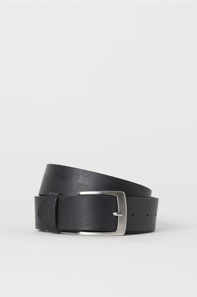 57b0389e0ba Cinturón de piel - Negro -