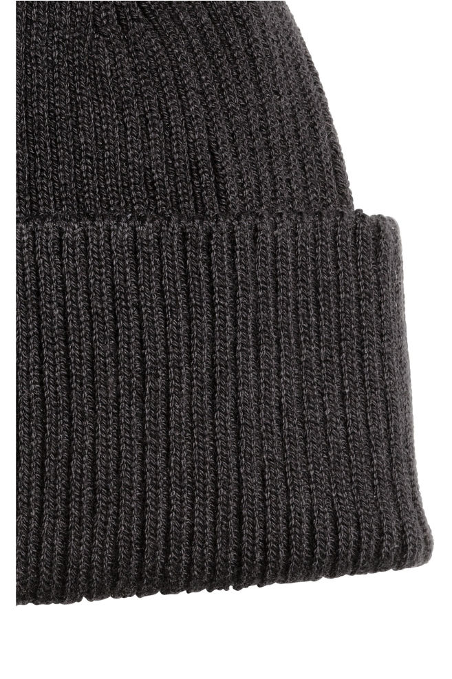 ... Ribbed hat - Black - Men  bdeb23593a8