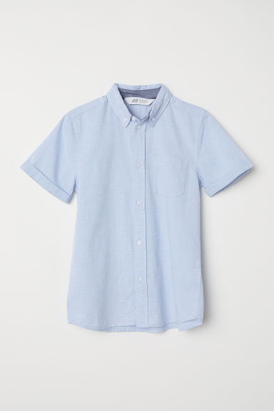 Cotton shirt - Light blue - Kids | H&M CN