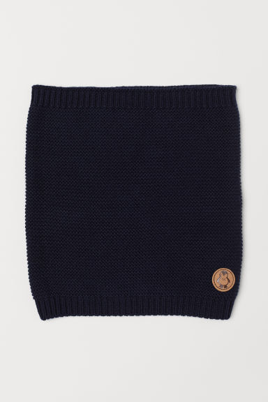 Knitted tube scarf - Dark blue - Kids | H&M CN
