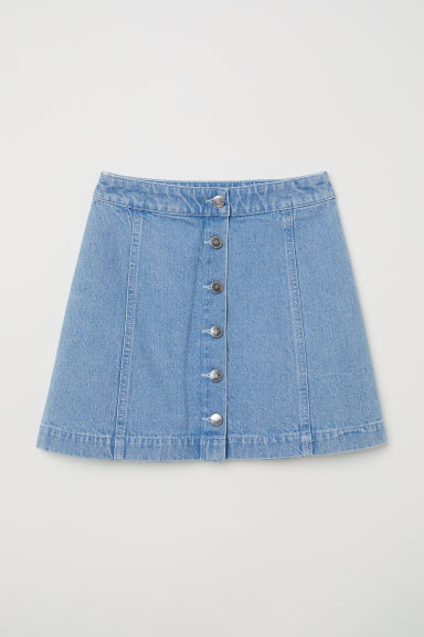 Short skirt - Light denim blue -  | H&M