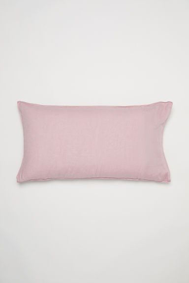 Washed linen pillowcase - Dusky pink - Home All | H&M CN