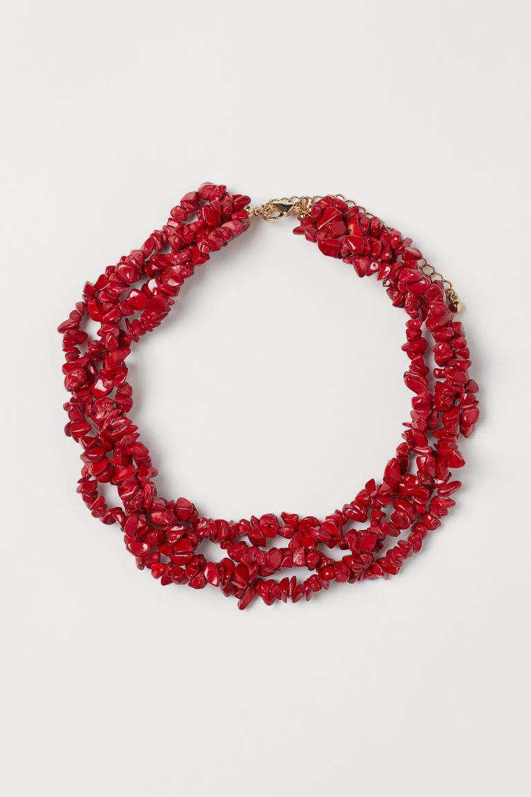 Multi-strand Necklace - Red - Ladies | H&M US