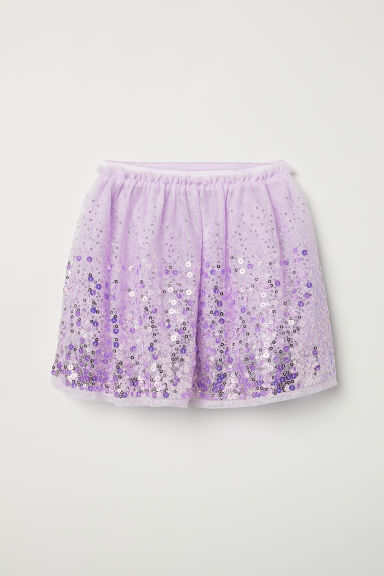 Tulle skirt with sequins - Purple - Kids | H&M