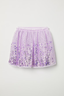 Tulle skirt with sequins