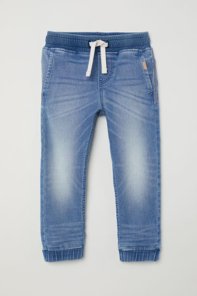 Super Soft Denim Joggers - Light denim blue - Kids | H&M US