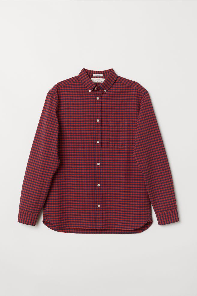 f325f6ba3 Regular Fit Oxford Shirt - Red/checked - Men | H&M ...