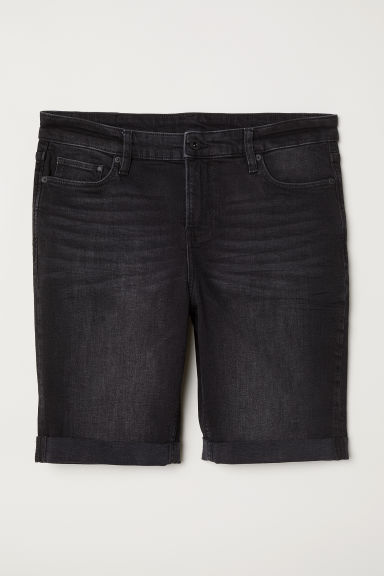 H&M+ Denim shorts - Black denim -  | H&M