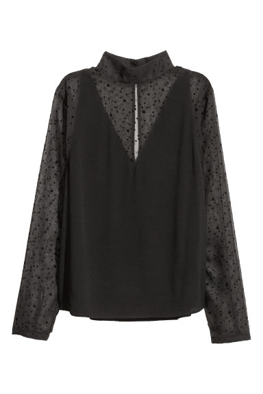 Patterned blouse - Black/Stars -  | H&M IE