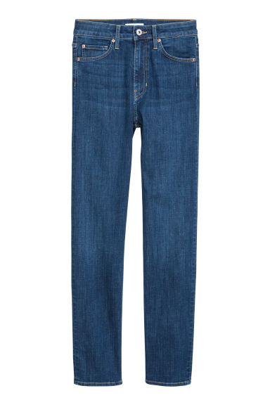 Stretch trousers High waist - Dark denim blue -  | H&M