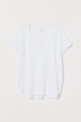 57ec00da5e6e8 T-shirt à encolure en V