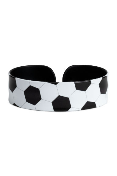 Snap-on bracelet - White/Football -  | H&M CN