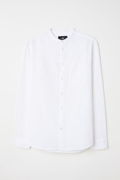 Grandad shirt - White - Men | H&M CN