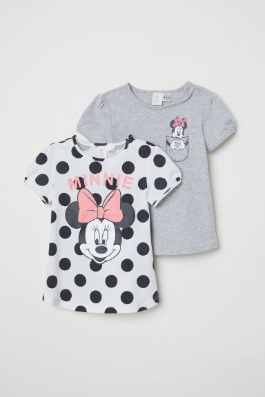 Set van 2 tops met print - Wit/Minnie Mouse - KINDEREN | H&M BE