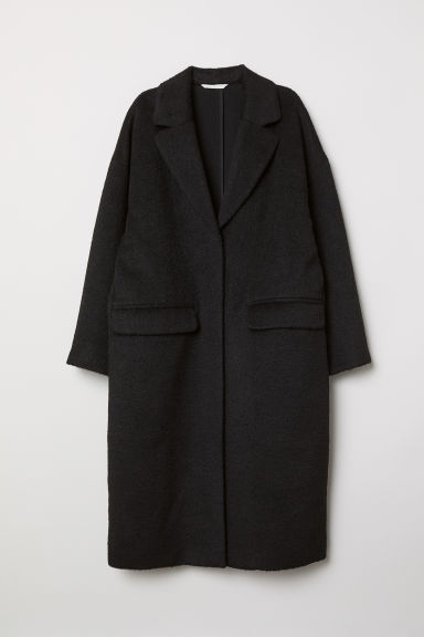 Knee-length coat - Black - Ladies | H&M CN