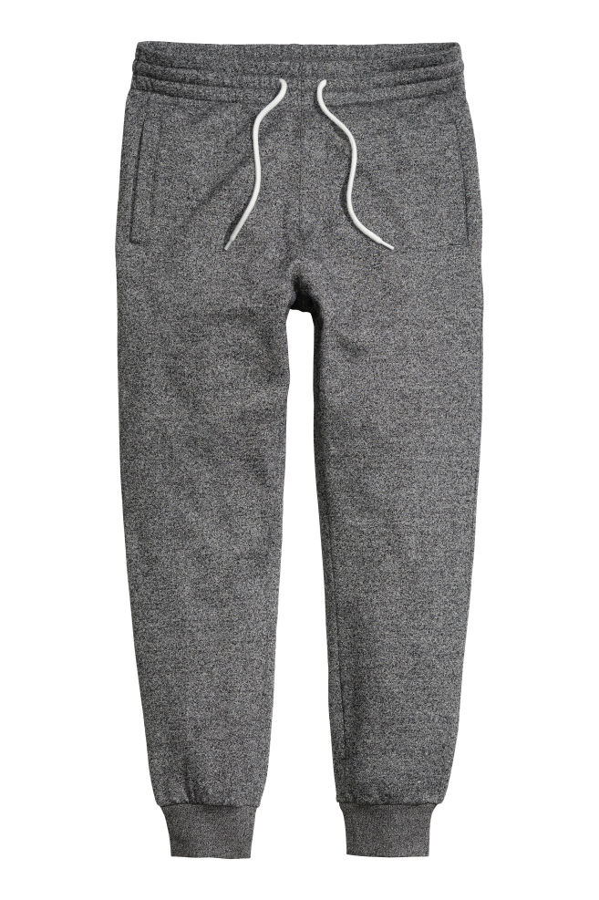 99a710b70 Pantalón de chándal - Gris oscuro jaspeado - HOMBRE