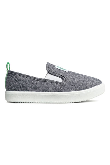 Slip-on trainers - Grey/Chambray -  | H&M