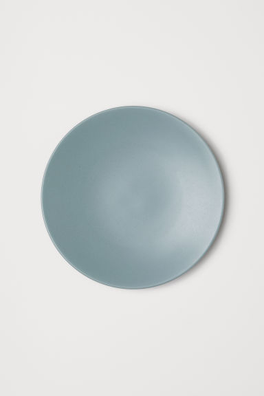 Porcelain plate - Turquoise - Home All | H&M CN