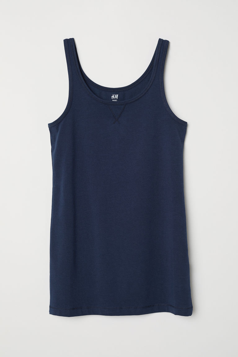 Canotta in jersey - Blu scuro -  | H&M IT