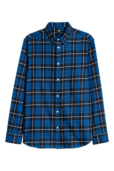 Checked shirt Regular fit - Blue - Men | H&M CN