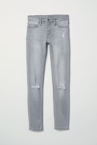 Superstretch Skinny Fit Jeans - Light grey denim - Kids | H&M CN