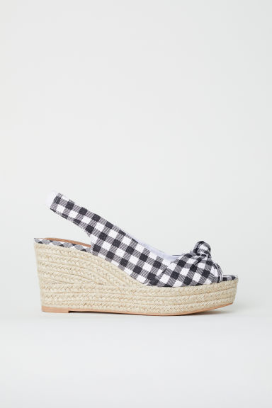 Wedge-heel sandals - White -  | H&M CN