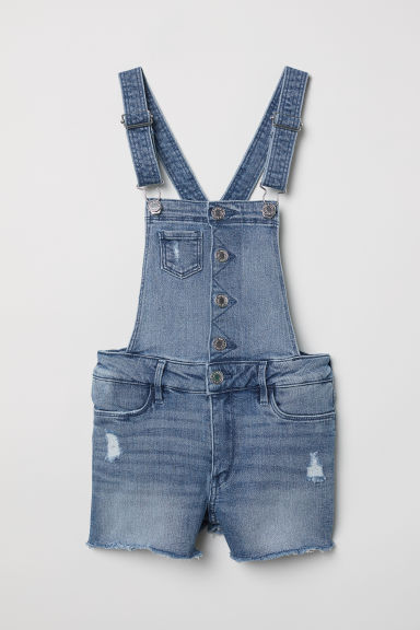 Dungaree shorts - Denim blue - Kids | H&M