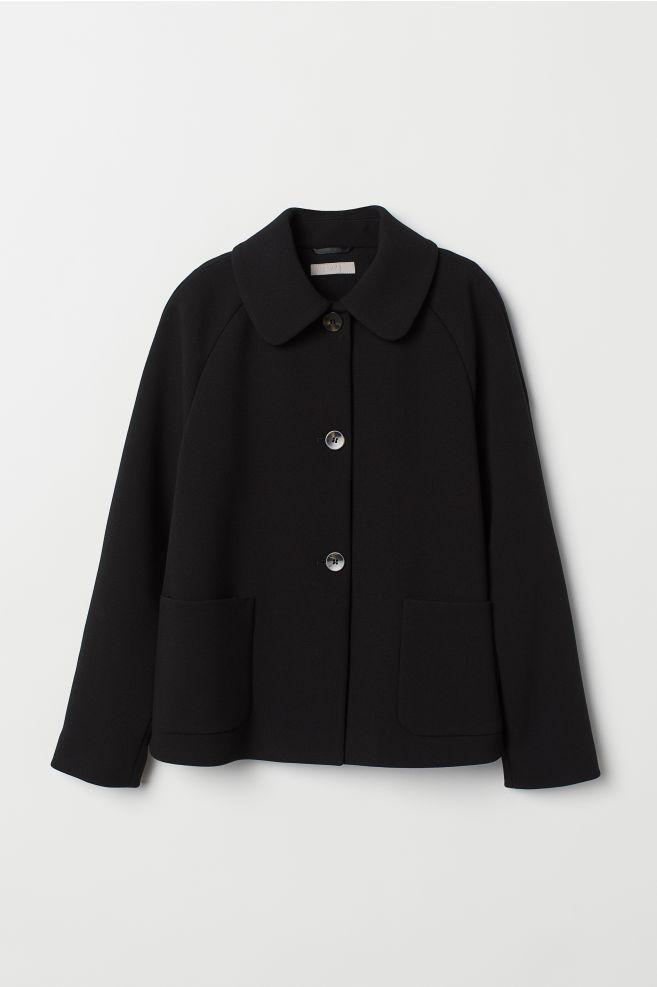 1cc49e76f3 ... A-vonalú kabát - Fekete - NŐI | H&M ...