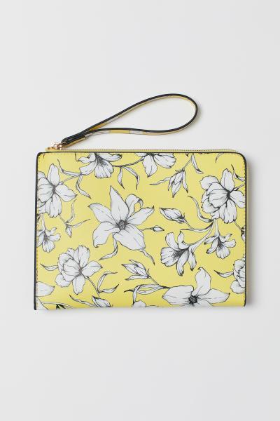 12cd8f5bde0dc Desenli El Çantası - Açık sarı/Çiçekli - KADIN   H&M ...