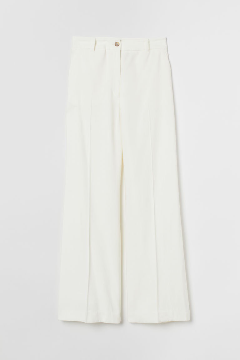 Wide suit trousers - Cream - Ladies | H&M
