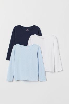 4d44b4220615 3 tričká s dlhým rukávom