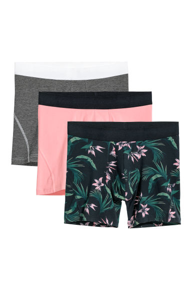 3-pack mid trunks - Dark blue/Multicoloured - Men | H&M CN